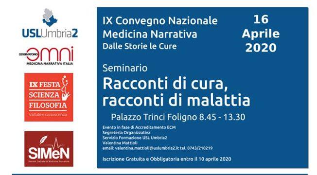 congresso nazionale medicina narrativa foligno